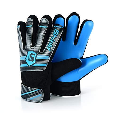 Shield Torwarthandschuhe Fussballhandschuhe Kinder Jungen ECONOTECH (Blau, 6)