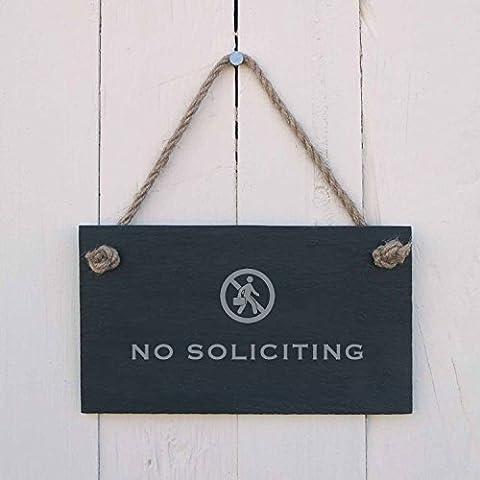 'No solicitar' Pizarra Cartel Colgante