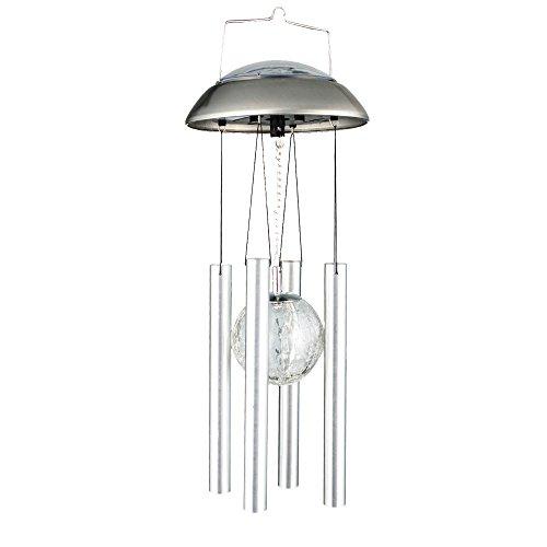 RGB LED Solar Leuchte Glas Kugel Windspiel Veranda Außen Deko Farbwechsel Hänge Lampe BTR BT341
