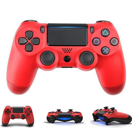 BGAME Wireless Game Joystick Controller, für PS4 Playstation 4 2.4G Wireless Gamepad Joystick PC, Dual Vibration, 8 Stunden Spieldauer für PC/Android-Handys, Tablets, TV-Box,Red