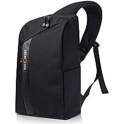 K&F Concept Sac Photo Sling Bandouliere Backpack Sacoche à Dos Epaule Compact avec Compartiment Reflex Amovible Inclus pour Appareil Photo Ordinateur Loisir Voyage