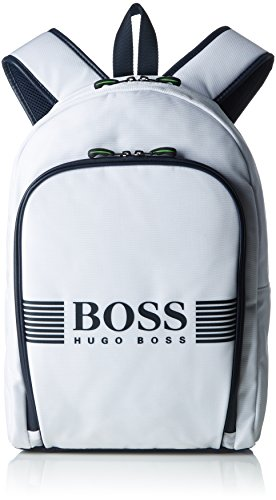 Preisvergleich Produktbild BOSS Herren Pixel_backpack Rucksack,  Weiß (Natural),  12x43x29 cm