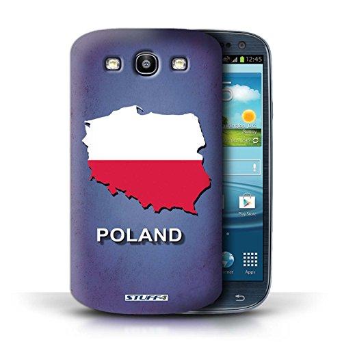 Kobalt® Imprimé Etui / Coque pour Samsung Galaxy S3/SIII / Afrique du Sud/Afrique conception / Série Drapeau Pays Pologne/Polonais