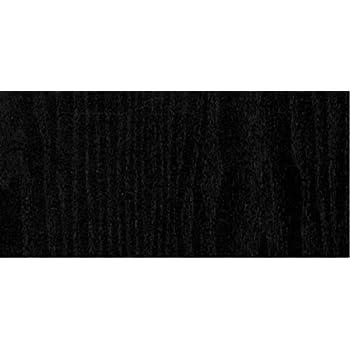 Klebefolie Holzdekor Möbelfolie Schwarz für Türen 90 cm x 220 cm selbstklebend