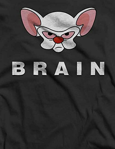 Pinky Brain T-Shirt S-XXL 12 Colori / Colours Grigio scuro