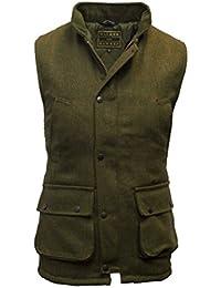Walker and Hawkes - Chaleco de hombre, estilo Country, de tweed,adecuado para la caza, color verde salvia,tamaños 2XS hasta 4XL