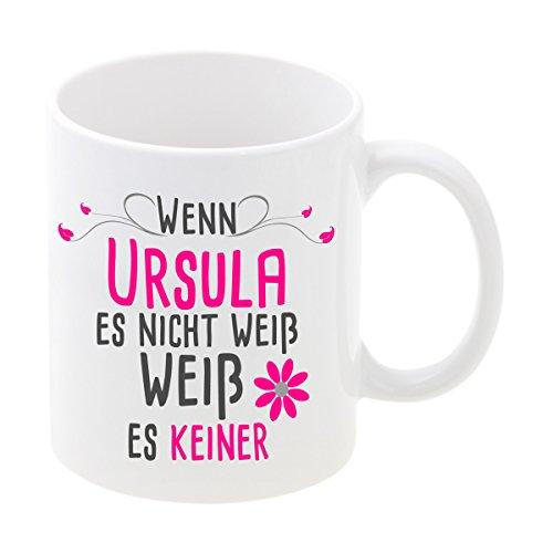 Geschenke 24 Tasse – Wenn … es Nicht weiß (Pink, mit Wunschname): Bedruckte Kaffeetasse für...