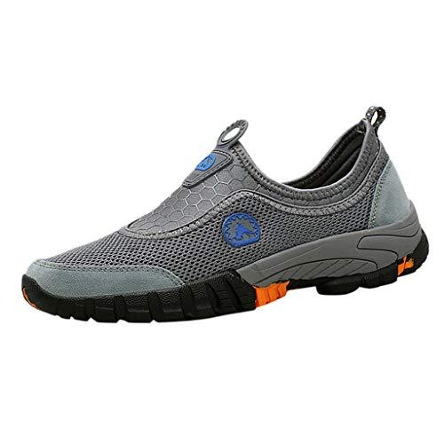 YU'TING - Scarpe da Trekking Uomo, Sandali Sneakers Sportivi Estivi Uomo Trekking Scarpe da Spiaggia All'aperto Pescatore Piscina Acqua Mare Escursionismo Leggero