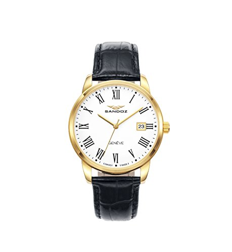 Watch Sandoz Steel PVD Gold Strap