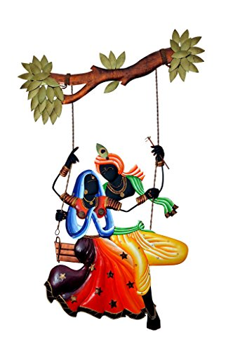 IndoRoots Radha krishna under Jhula wall Hanging