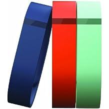 Fitbit Flex - Pulseras inalámbricas de actividad y sueño, color azul / naranja / verde, talla small (3 unidades)