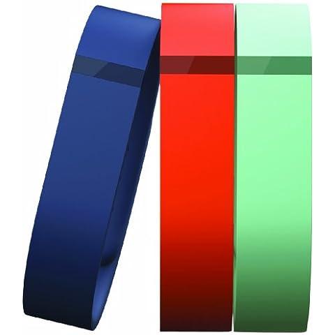 FitBit FB401BTNT - Pulsera de electrónica y dispositivos, color azul / naranja / verde, Talla L (161-209