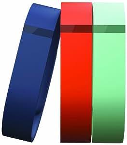 Fitbit Flex Set 3 Braccialetti Ricambio, Misura Small, Blu Marino/Verde Acqua/Mandarino