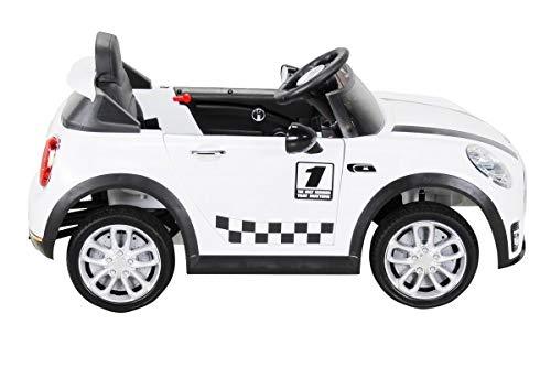 RC Auto kaufen Kinderauto Bild 2: Actionbikes Motors Kinder Elektroauto Mini Cooper Eva Reifen Ledersitz Kinderfahrzeug Kinderauto in vielen Farben (Weiß)*