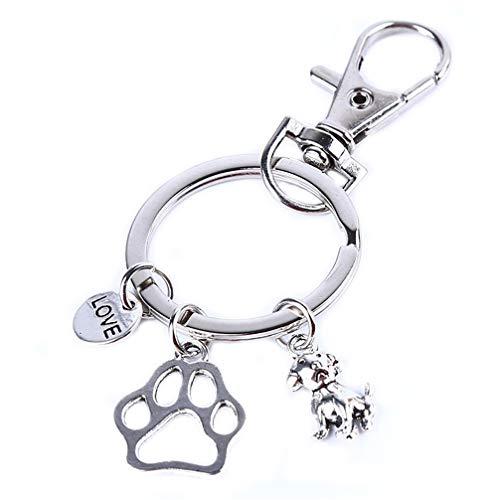 Toporchid Crazy Dog/Cat Lady Charm Keychain Ich Liebe Katzen Glücksbringer Paw Pets Keychain (Crazy Dog Lady-spielzeug)