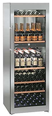 Liebherr wtpes 5972vinidor Freestanding Wine Refrigerator Stainless Steel 155bottle (S) A–Wine Cooler (Freestanding, Stainless Steel, Stainless Steel, 6Shelves, 1Door (S), Stainless Steel) by Liebherr