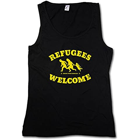 REFUGEES WELCOME DONNA CANOTTA TANK TOP -