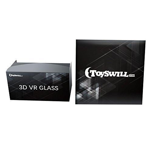 Toyswill Google Karton 3D VR Brille Virtual Reality Brille für 3D Filme und Spiele