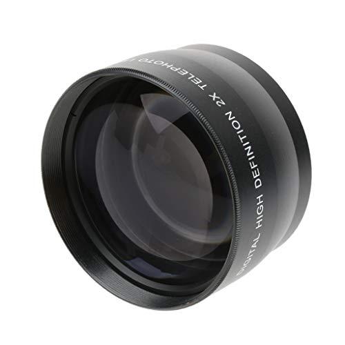 D DOLITY 55mm 2X Teleobjektiv Telekonverter Objektiv für Canon/Nikon/Olympus/Sony/Pentax DSLR-Kameras