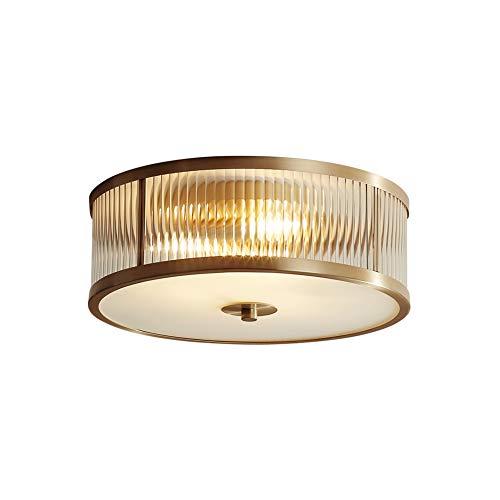 CUICANH Trommel kronleuchter,Einfache Retro Kreativ Kupfer Deckenlampe Balkon Gang Innenbeleuchtung -mittlere 50x14cm(20x6inch) -