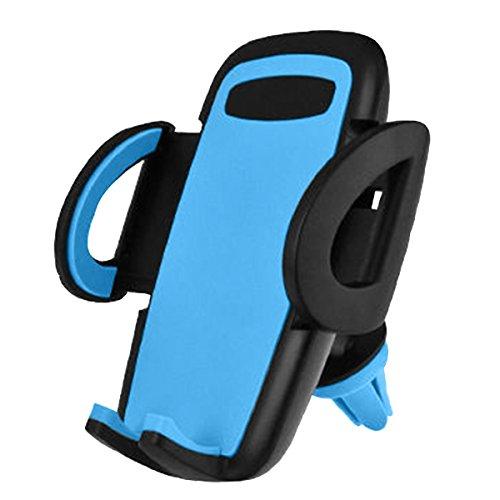 [Update Version] XFAY Ventilation Support Voiture Auto Universel à Angle Réglable pour iPhone 6s Plus 6s 6 5s 5c, Samsung Galaxy, Note,Nexus, LG, Sony, Android Smartphones, Appareils GPS - Bleu