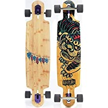 Riviera kung fu Kitty Drop Through-Complete Longboard by Riviera