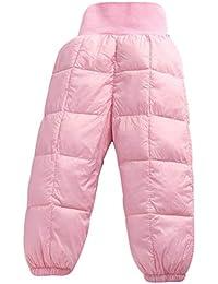 Pantalones para Niños de Invierno, Pantalones de Invierno Niño Niña, Pantalones Nieve Bebe Térmicos Prueba de Viento Espesar Pantalones Cintura Alta 70-120 cm