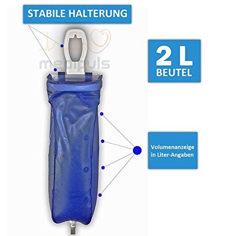 Reise-IRRIGATOR komplett – 2 L – aus Kunststoff┇Für die schonende Darmreinigung zu Hause oder unterwegs