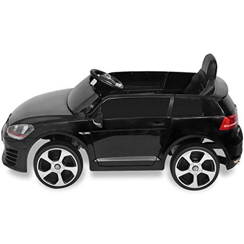 RC Auto kaufen Kinderauto Bild 3: SENLUOWX Kinderauto Elektroauto VW Golf GTI 7 schwarz 12 V Kinderfahrzeug Kinderauto mit Fernbedienung*