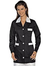 Isacco-túnica médica Marbella, color negro y blanco