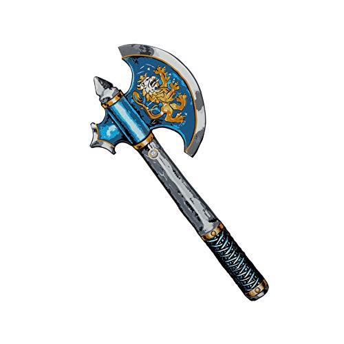Liontouch 10300LT Mittelalter Edler Ritter Spielzeug Schaumstoff Axt für Kinder, Blau | Teil von Kostüm mit Schild und ()