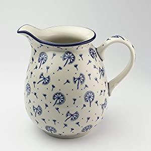 Polish Pottery 1 Litre Jug Dandelion