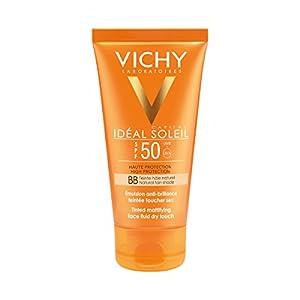 Vichy Ideal Soleil Protector Solar BB Toque Seco Fluido con Color FPS 50, 50 ml
