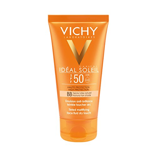 Vichy Ideal Soleil Protector Solar BB Toque Seco Fluido con Color FPS 50, 50 ml