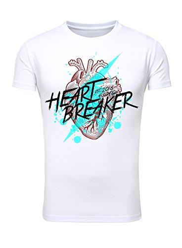 Goodflow Comic T-Shirt Heart Breaker schwarz Weiß