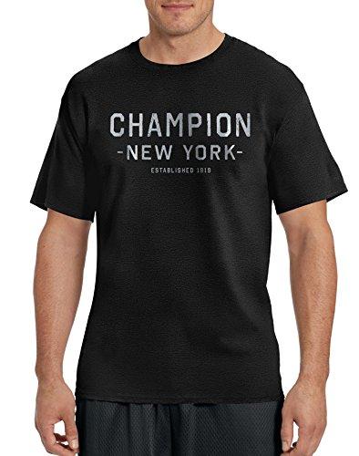 Champion - Maglietta sportiva - Maniche corte  -  uomo Black/Champion