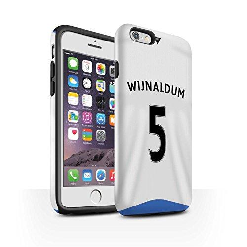 Offiziell Newcastle United FC Hülle / Glanz Harten Stoßfest Case für Apple iPhone 6S / Janmaat Muster / NUFC Trikot Home 15/16 Kollektion Wijnaldum
