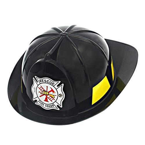 Toyvian Feuerwehrmann Hut für Kinder - Feuerwehrmann Helm Kostüm, Party Gefallen (Schwarz)
