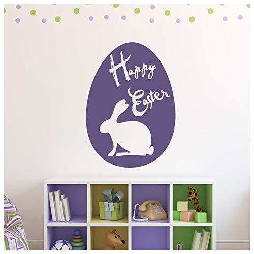 d Ei Silhouette Ostern Wandtattos Nach Jahreszeiten Dekor Art Decals verfügbar in 5 Größen und 25 Farben Groß Gras Grün ()