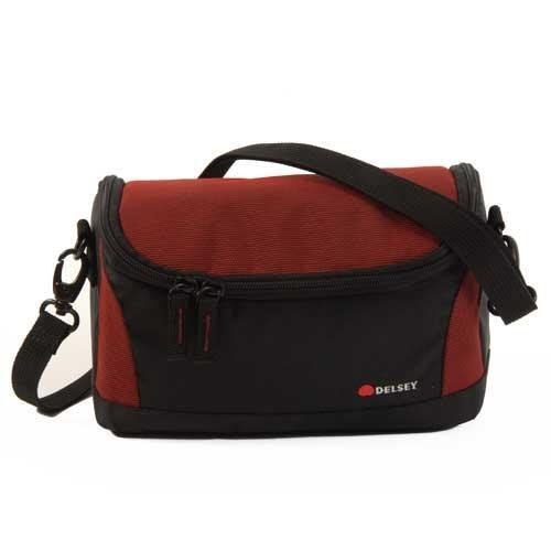delsey-gopix-ii-120-holdall-for-camera-black-red