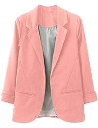 Mujer Otoño Primavera Blazers y Chaquetas Trabajo Oficina Dama Traje Slim Office Blazer Mujer Escudo SUNNSEAN