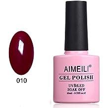 AIMEILI Smalto Semipermente per Manicure Smalti per Unghie in Gel Soak Off UV LED - Red Vixen (010) 10ml