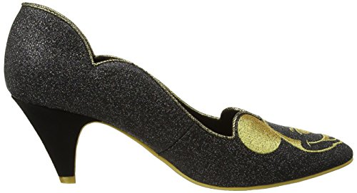 Irregular Choice - Glitzy Mickey, Scarpe col tacco Donna Black (Black Glitter)