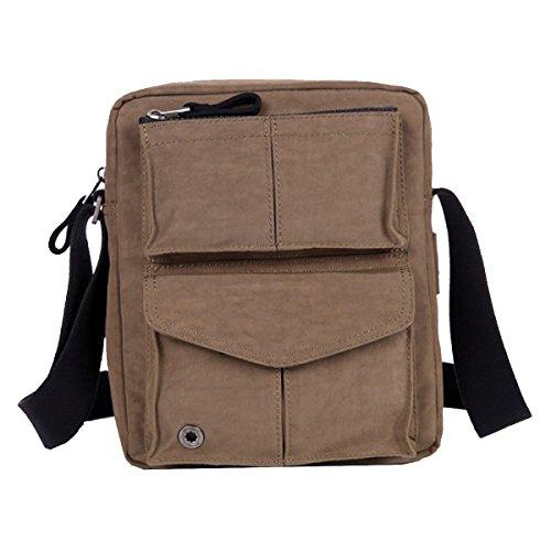 Yy.f Mann Tasche Umhängetasche Herren-Tasche Oxford Stofftaschen Freizeit-Segeltuchbeutel Retro- Kurierbeutel Vertikalschnitt Und Klein 2-farbig Brown