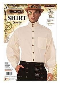 Forum Novelties x76371aplanadora de Steampunk disfraz de camisa de color beige