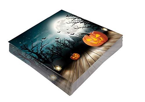 Preis am Stiel 1 x Halloween Servietten Halloween | Deko | Kürbis | Party