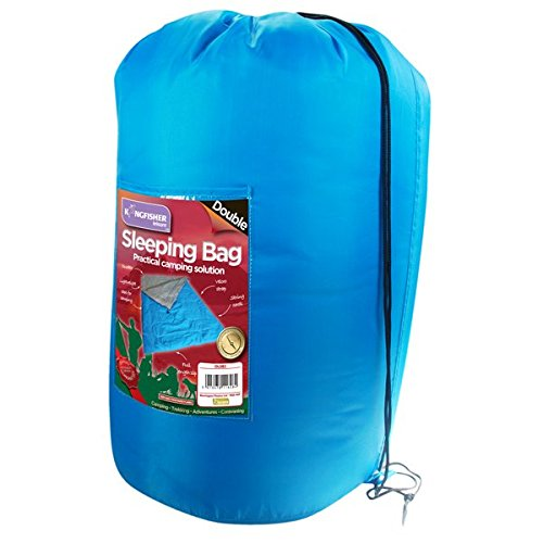 41v52K0hOeL. SS500  - Kingfisher Unisex OLSB2 Double Polyester Camping Sleeping Bag, Blue, NA