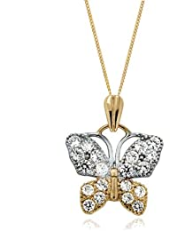 Carissima Gold Damen-Kette one size 2.45.5274 Zirkonia 1.9 cm