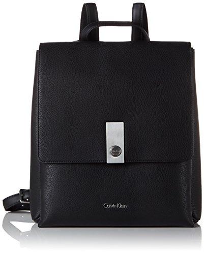 Calvin Klein CARRI3 Backpack, Sacchetto Donna, Nero (Black), 35x13x31 cm (b x h x t)