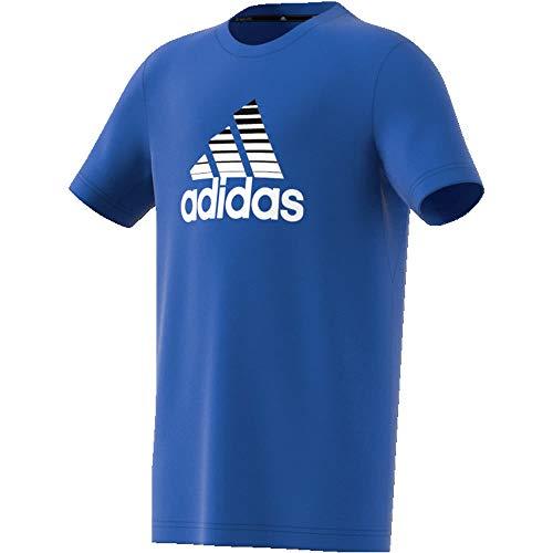 Tr-t-shirt Tee (adidas Kinder T-Shirt YB TR Prime Tee Blue/White/Black 110)